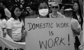 For every hour man spends on domestic work, a woman spends 11. — AFP/File