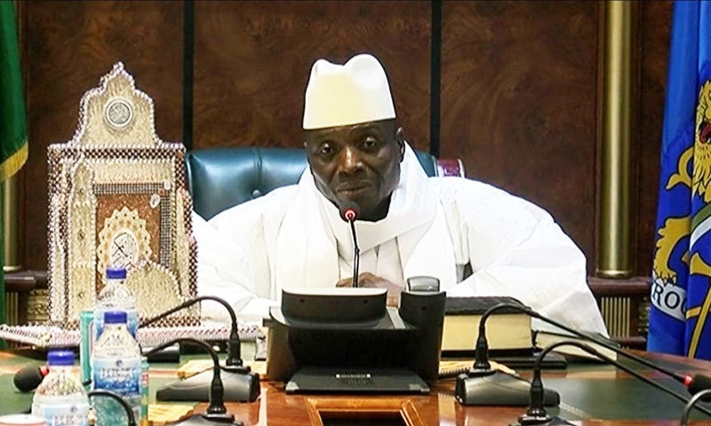 یحیٰ جامع نے 2015 میں گیمبیا کو اسلامی ریاست قرار دیا تھا—فوٹو: اے ایف پی