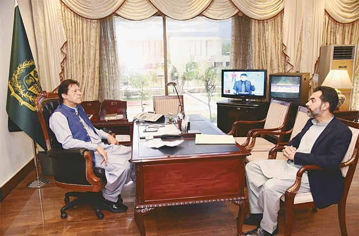 SBP governor, BNP-M members call on PM Imran