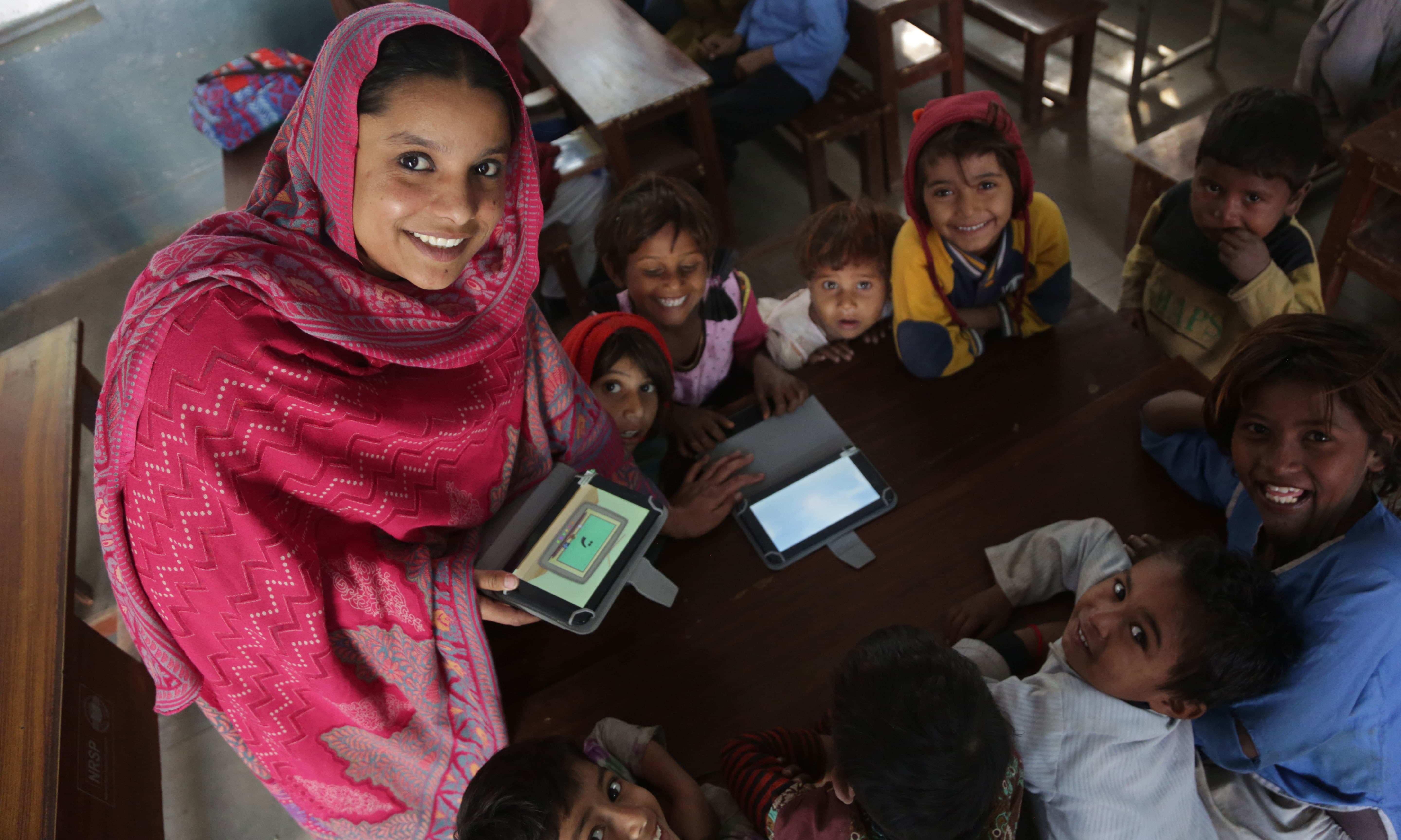 Founded in 2015, SABAQ is an education technology initiative that has reached 100,000 children in low-cost and low resource environments till date. — Photo courtesy: SABAQ
