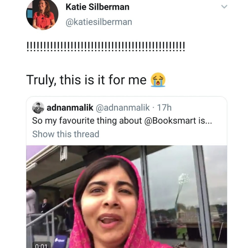 Fans loved seeing Malala's response