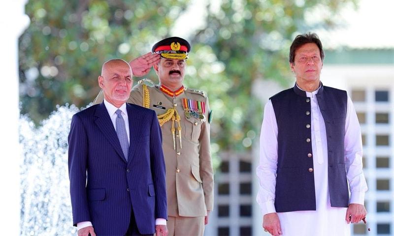 افغان صدر کو گارڈ آف آنر بھی پیش کیا گیا—فوٹو: حکومت پاکستان