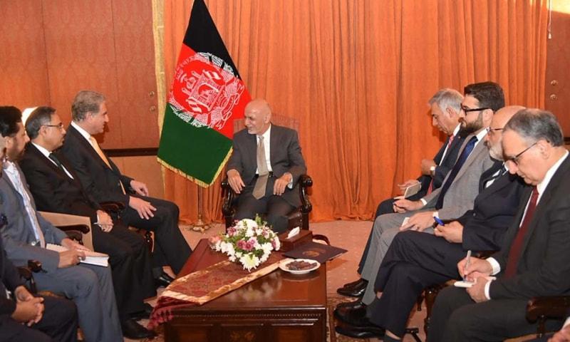 وزیر خارجہ نے وفد کے ہمراہ افغان قیادت سے ملاقات کی—فوٹو: حکومت پاکستان