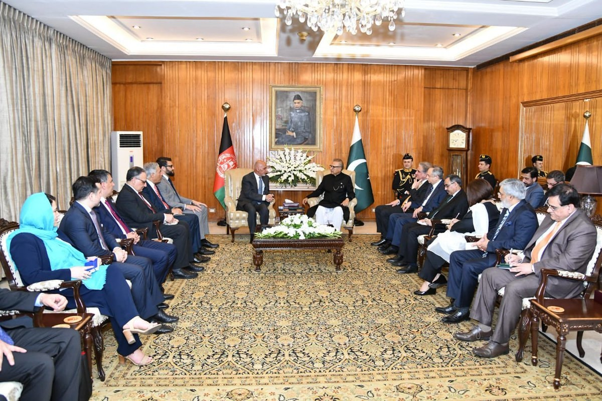 Delegation-level talks were held between President Arif Alvi and President Ashraf Ghani. — GOP Twitter