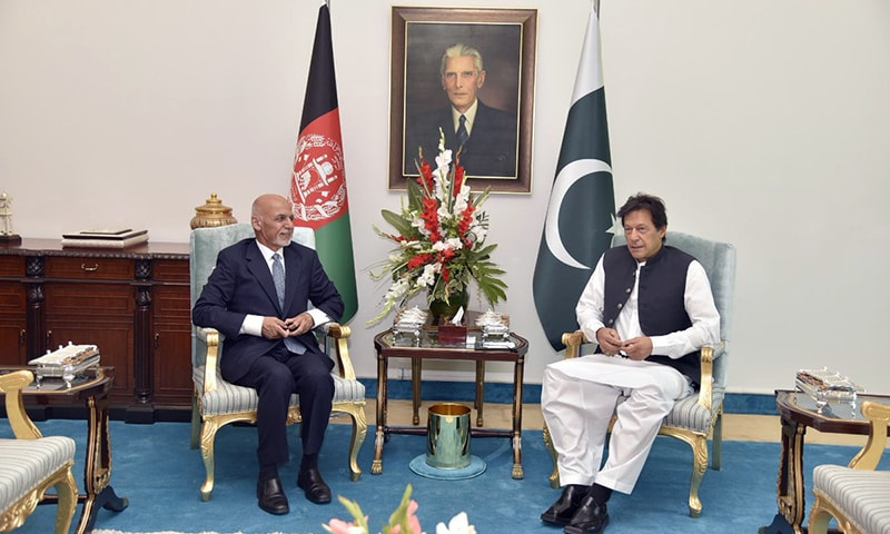 A one-on-one meeting was held between Prime Minister Imran Khan and Afghan President Ashraf Ghani in Islamabad on Thursday. — GOP Twitter