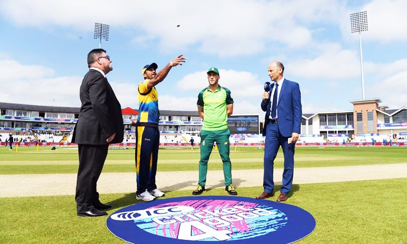 This is the first toss South Africa have won against Sri Lanka at a World Cup. — Photo courtesy of ICC