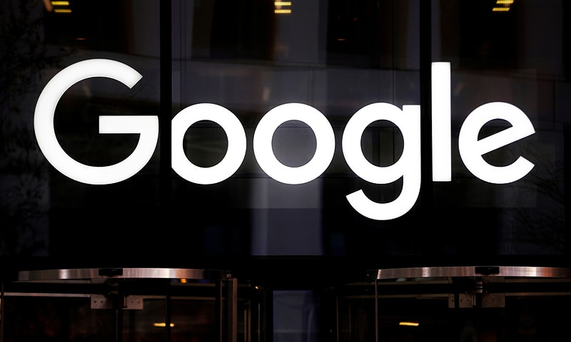 The Google logo is pictured at the entrance to the Google offices in London, Britain January 18, 2019. — Reuters/File