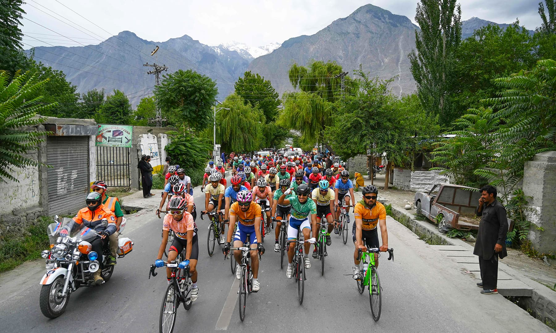 Tour de Khunjerab is one of the world's highest altitude cycling competitions. — AFP