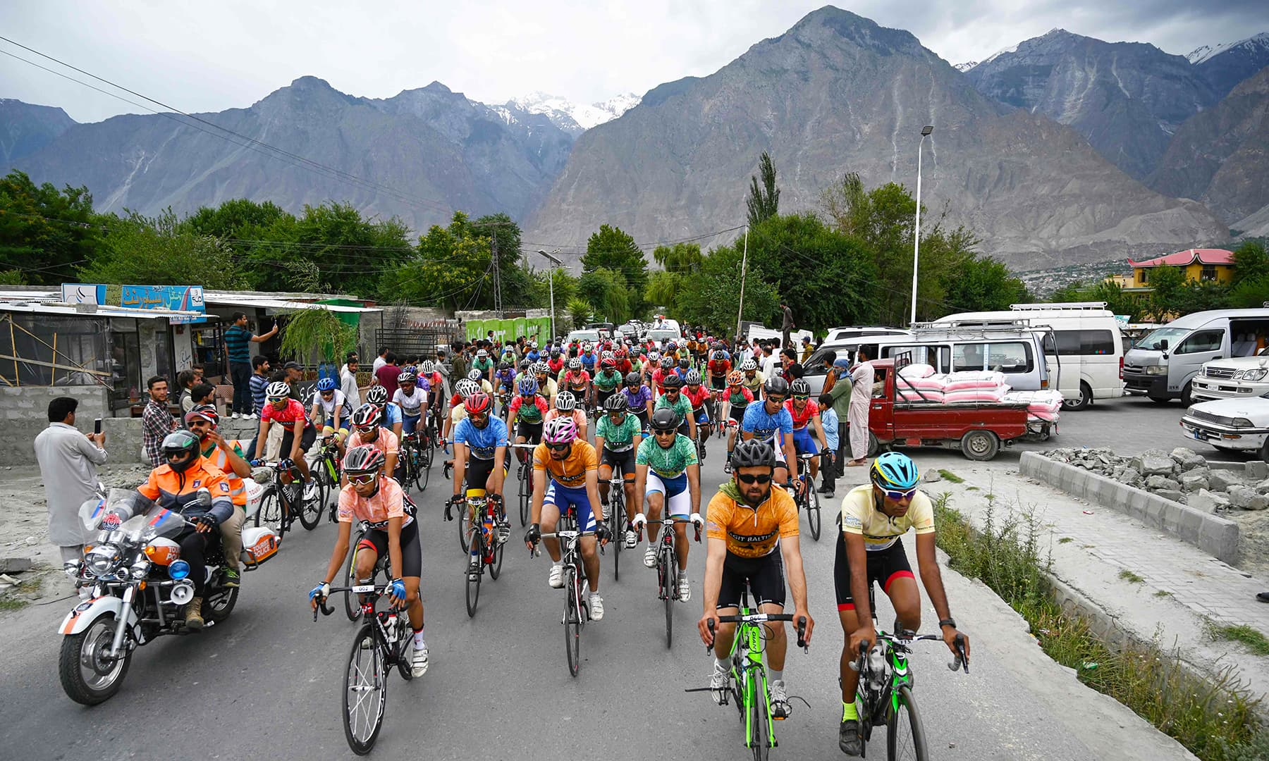 The event has been organised by the Gilgit-Baltistan government in collaboration with Pakistan Cycling Federation to promote tourism in the region. — AFP
