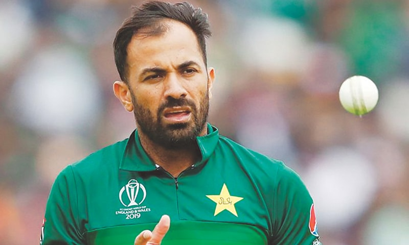 Wahab Riaz during the World Cup. — AFP/File