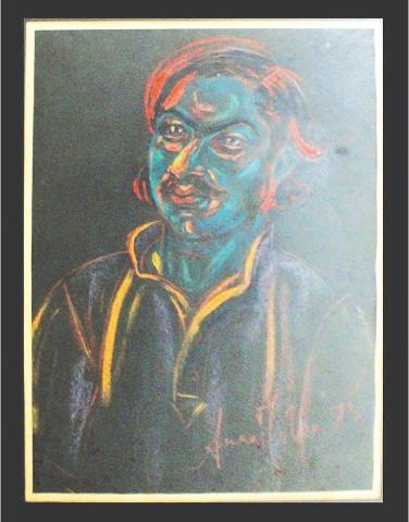 Portrait-1 (1973), Anna Molka Ahmed