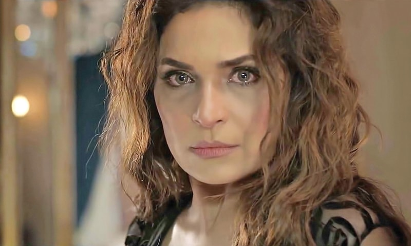 """""""Love me or hate me, you can never replace me,"""" Meera as Shameera scorns - Photo courtesy: ARY Films"""