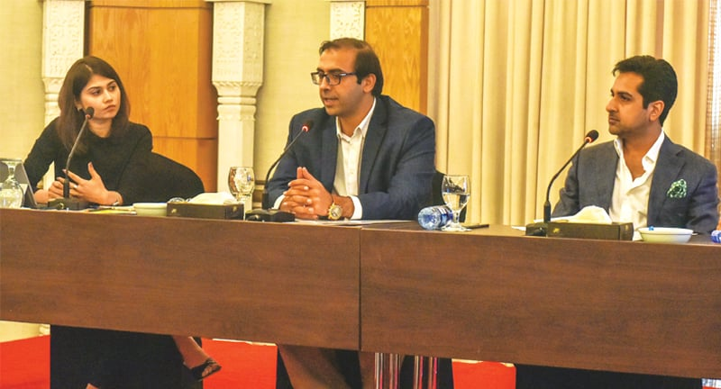 HRW's Saroop Ijaz speaks during the panel discussion on Saturday. —White Star