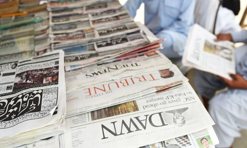 The All Pakistan Newspapers Society (APNS) on Tuesday strongly condemned the levy of sales tax by the Sindh government on newspaper advertisements, terming the situation alarming for the print media particularly when the provincial government has yet to clear more than Rs1 billion dues. — AFP/File