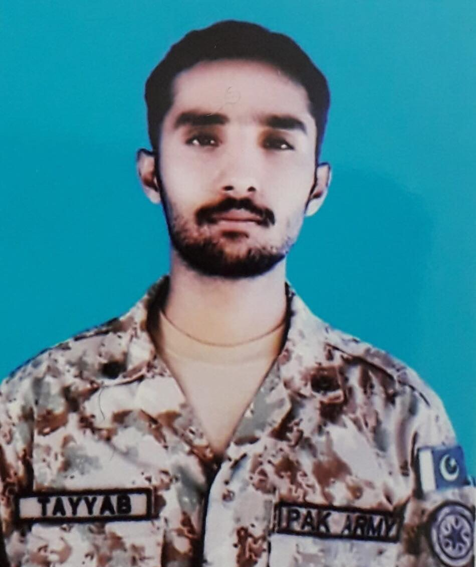 Sepoy Muhammad Tayyab. — ISPR photo