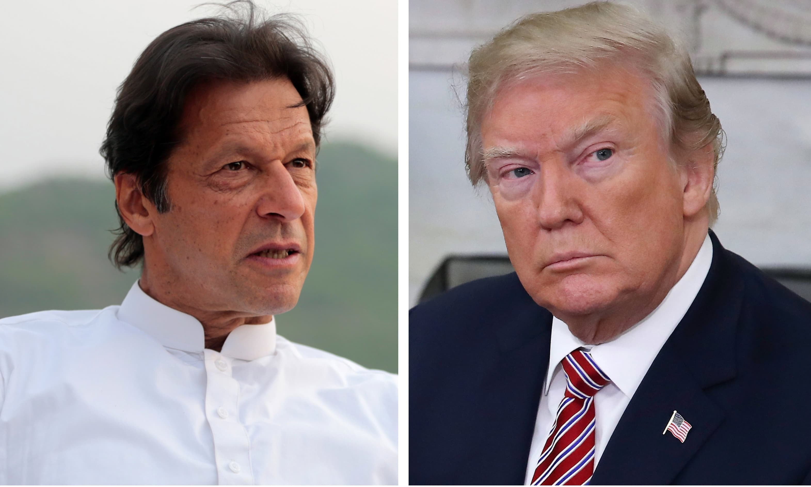 Prime Minister Imran Khan to meet US President Donald Trump on July 22. — File photos