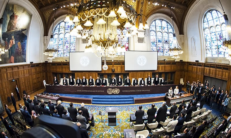 View of the ICJ courtroom on the first day of the hearings Feb 18, 2019. — Photo courtesy of the ICJ