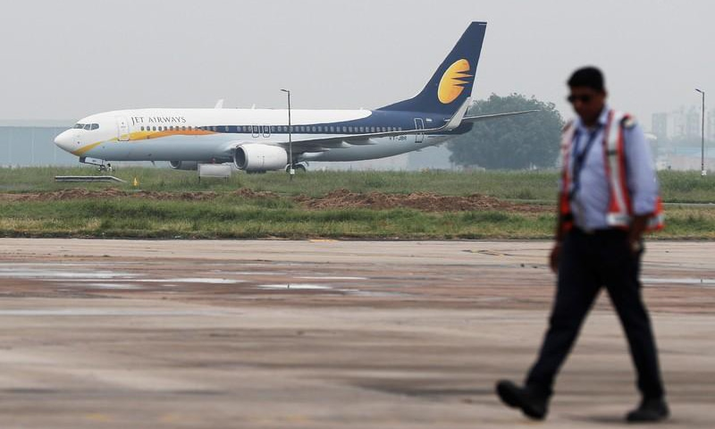 Jet Airways halted operations in April after running out of cash. — Reuters/File