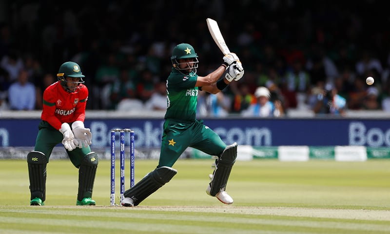 Pakistan's Babar Azam in action. — Reuters