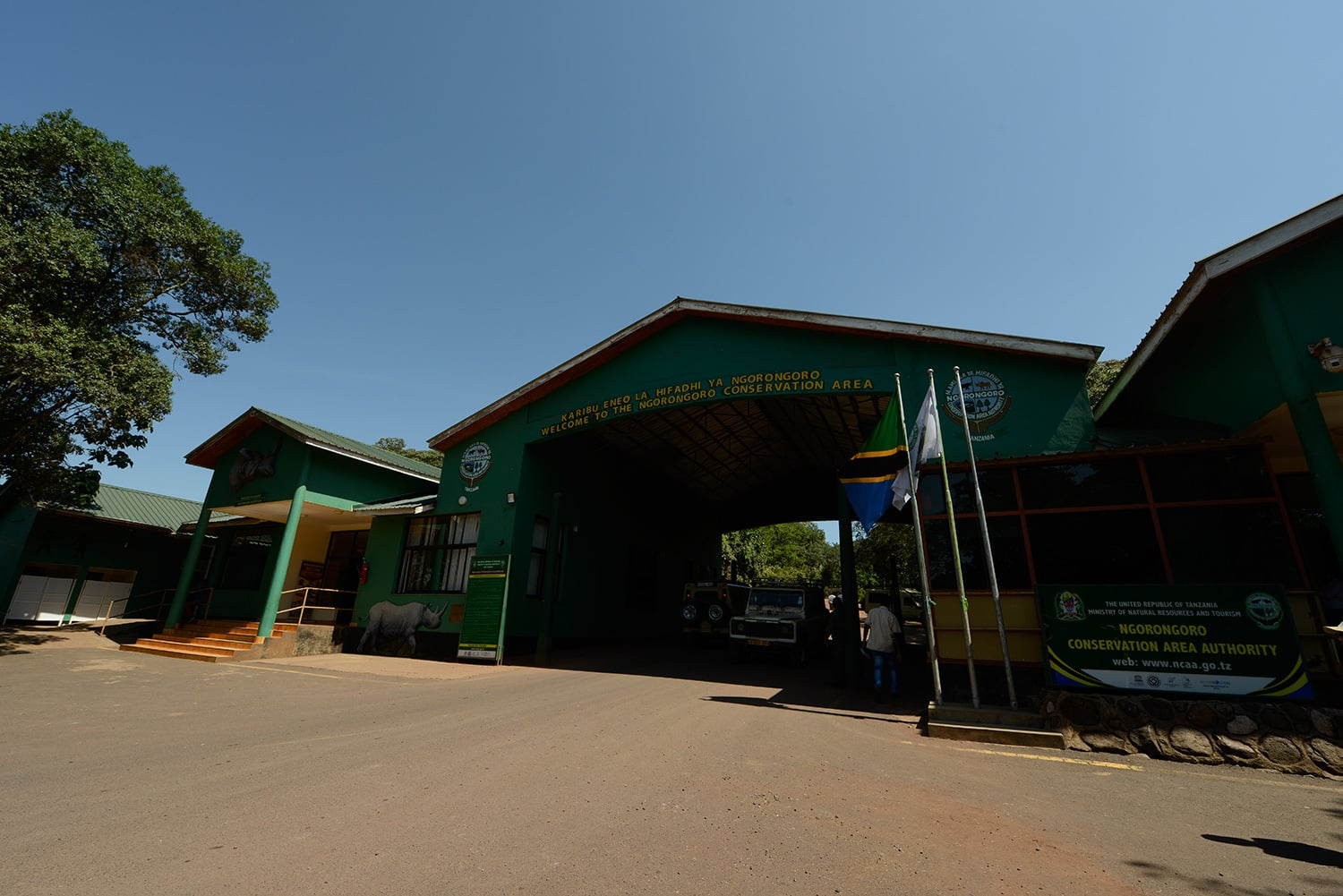 Entering Ngorongoro Conservation Area.—All photos by author