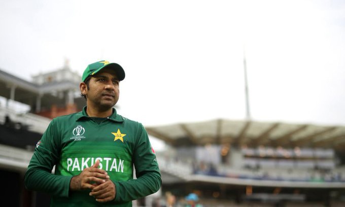 Sarfraz Ahmed before the World Cup game against Bangladesh. — ICC's Twitter