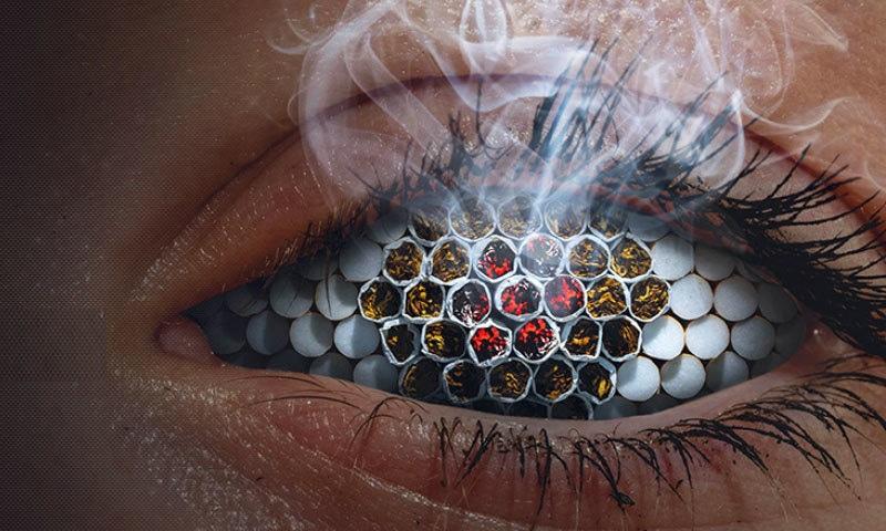سگریٹ نوشی بینائی متاثر کرنے کا بھی اہم سبب