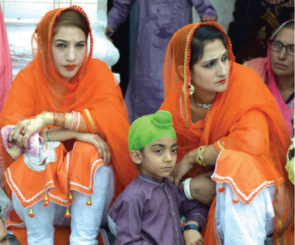 Pakhtun Sikh girls in their traditional dresses. — Photos by the writer
