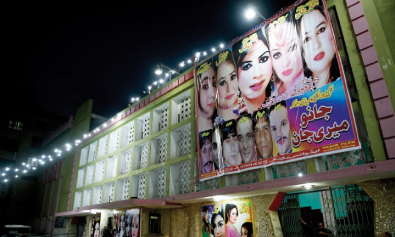 Rialto Cinema on Murree Road has been converted into a theatre. — Photos by Tanveer Shahzad