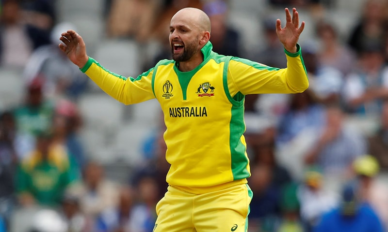 Australia's Nathan Lyon celebrates the wicket of South Africa's Aiden Markram. — Reuters
