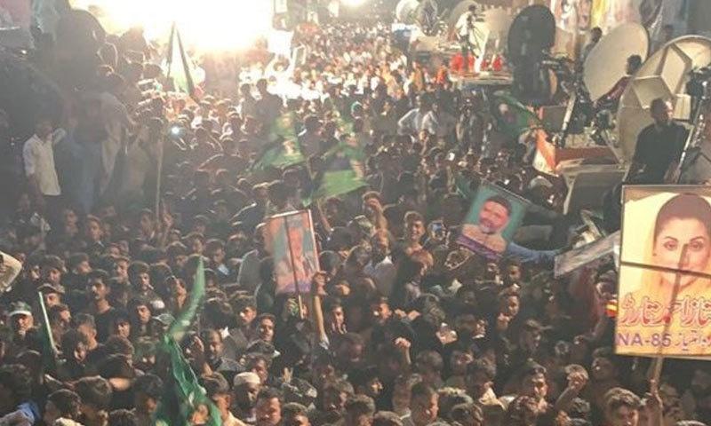منڈی بہاالدین میں عوام کی بڑی تعداد جلسے میں شریک تھی—فوٹو:مریم نواز ٹویٹر