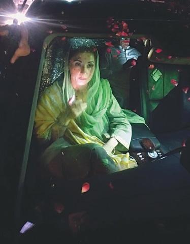 MARYAM Nawaz on her way to Mandi Bahauddin.