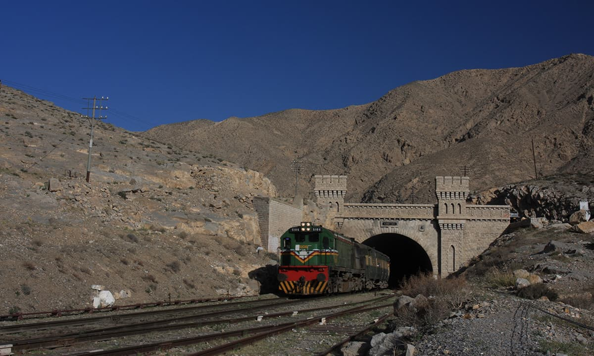 Quetta-bound Jaffar Express emerges from a tunnel called the Summit | Photos by Salman Rashid