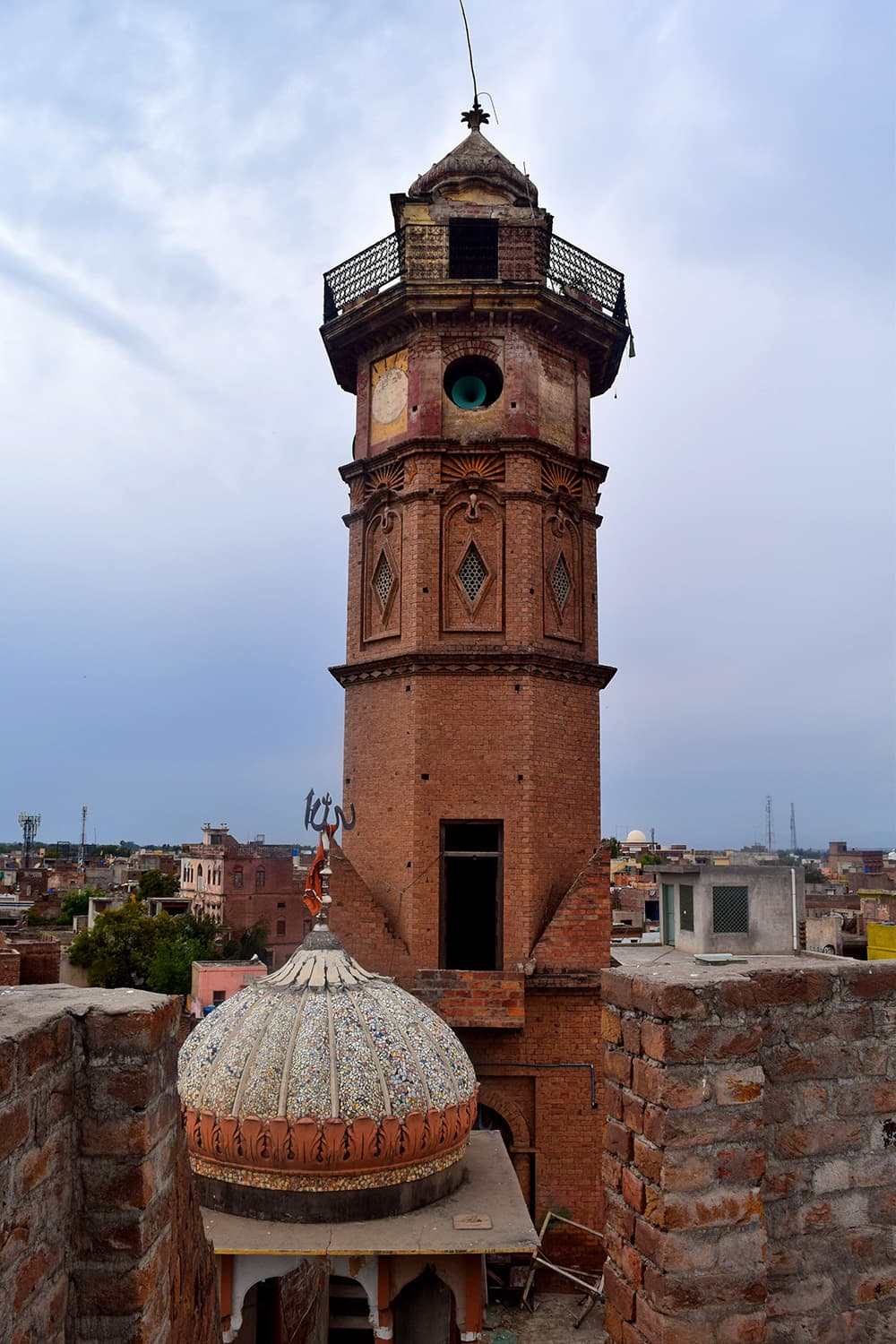 The tower of Gurdwara Sahib, now an imambargah.