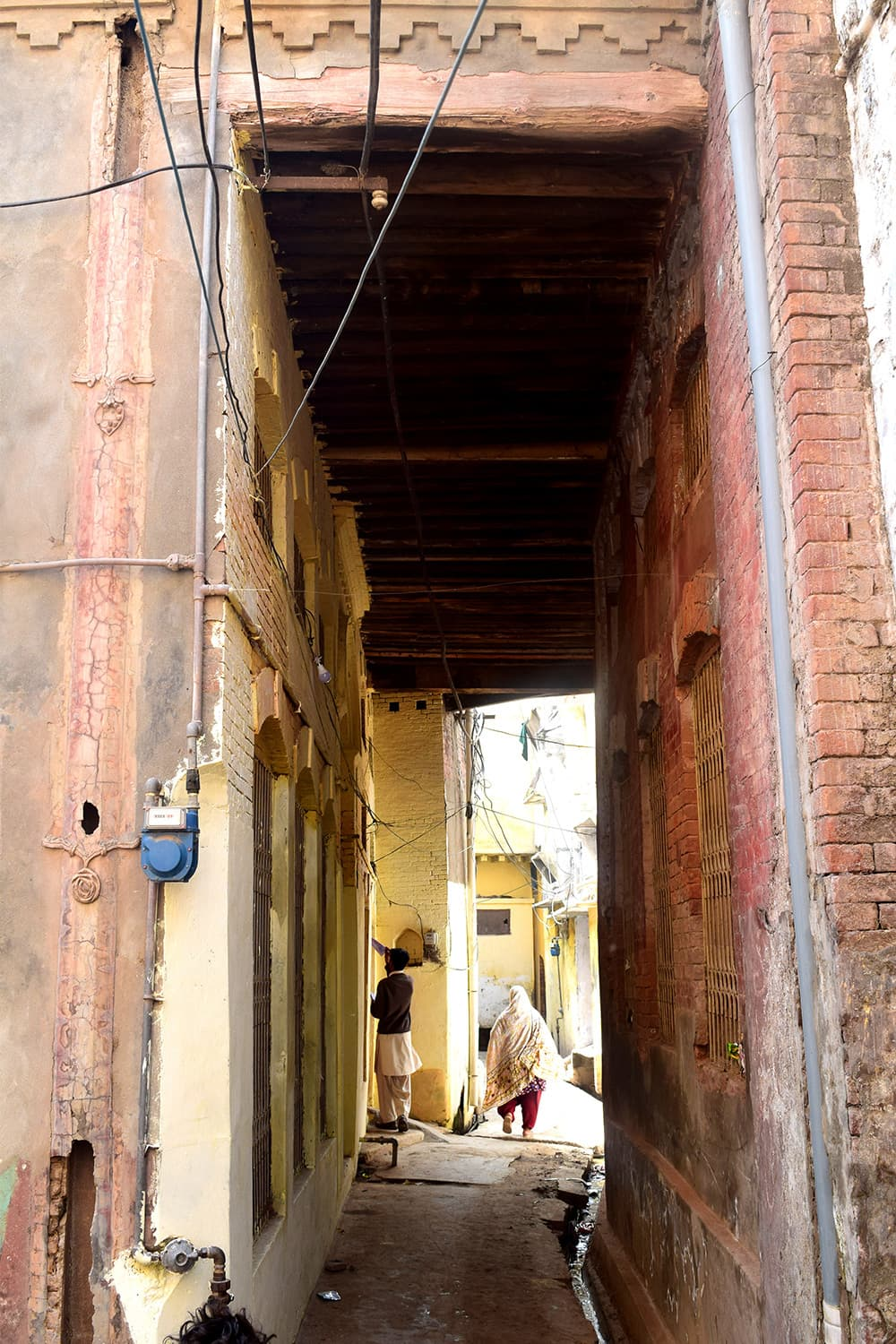 The alleys in the walled city.