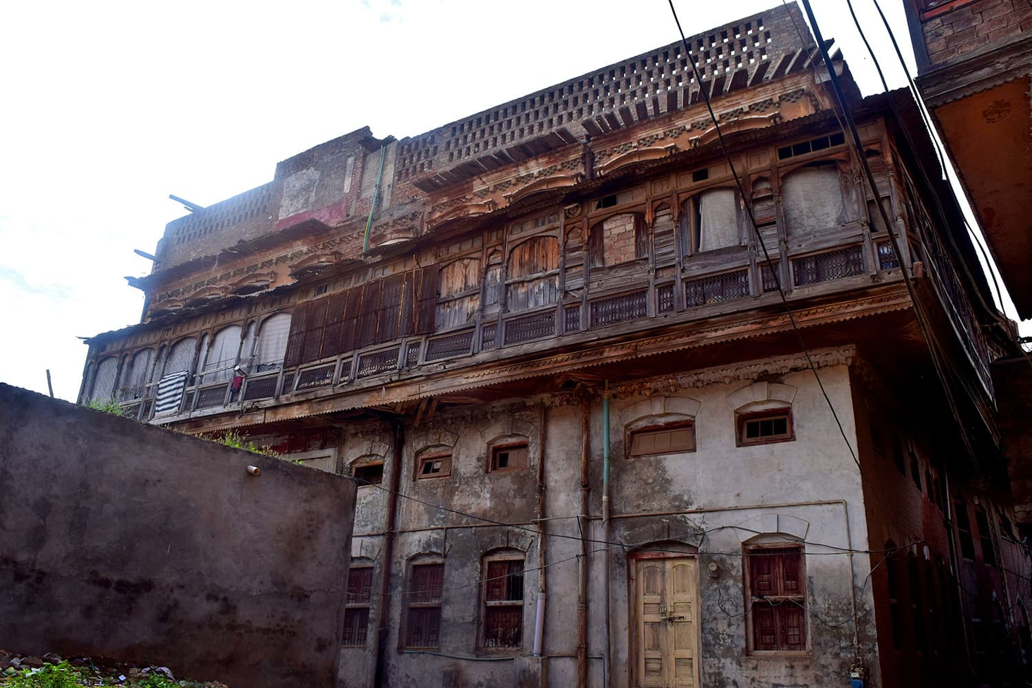 An imposing haveli once upon a time.