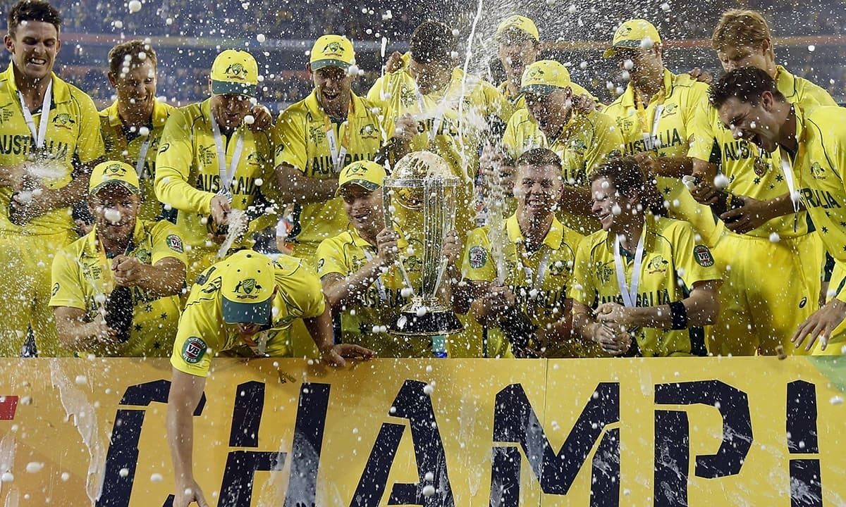 آسٹریلیا نے آسان مقابلے کے بعد پانچویں مرتبہ عالمی ٹائٹل اپنے نام کیا—فوٹو: رائٹرز