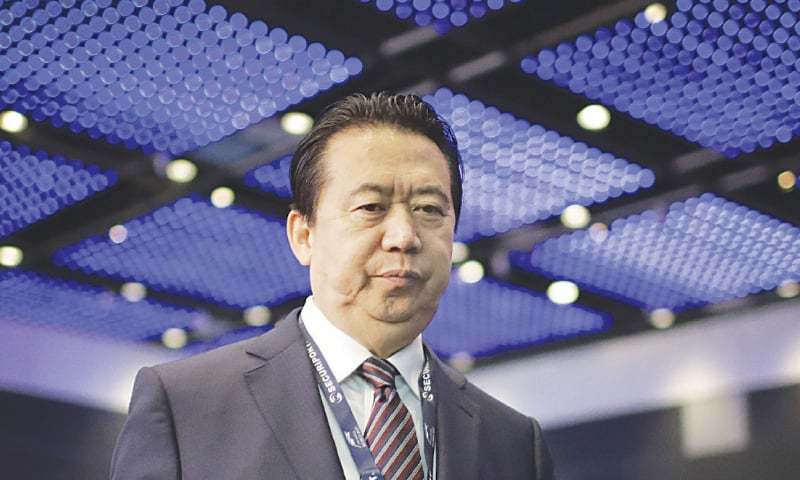 Meng Hongwei vanished last September during a visit to China before being accused of accepting bribes. — AP/File
