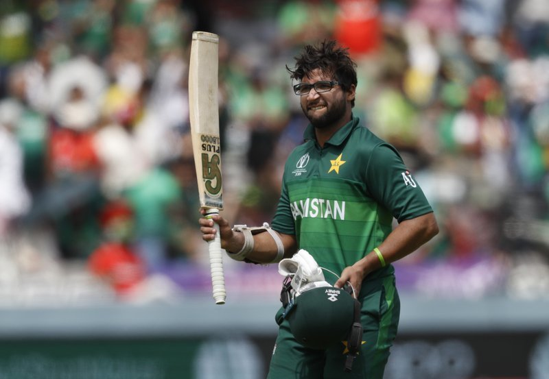 Imam-ul-Haq acknowledges the crowd as he walks off the pitch after being given out hit wicket during the Cricket World Cup match between Pakistan and Bangladesh at Lord's cricket ground in London. ─ AP/File
