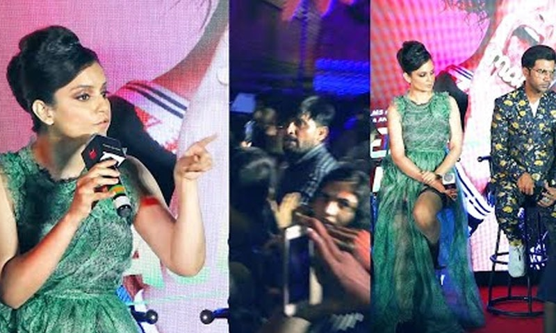 اداکارہ نے صحافی پر انہیں منفی دکھانے کا الزام لگایا —فوٹو/ اسکرین شاٹ