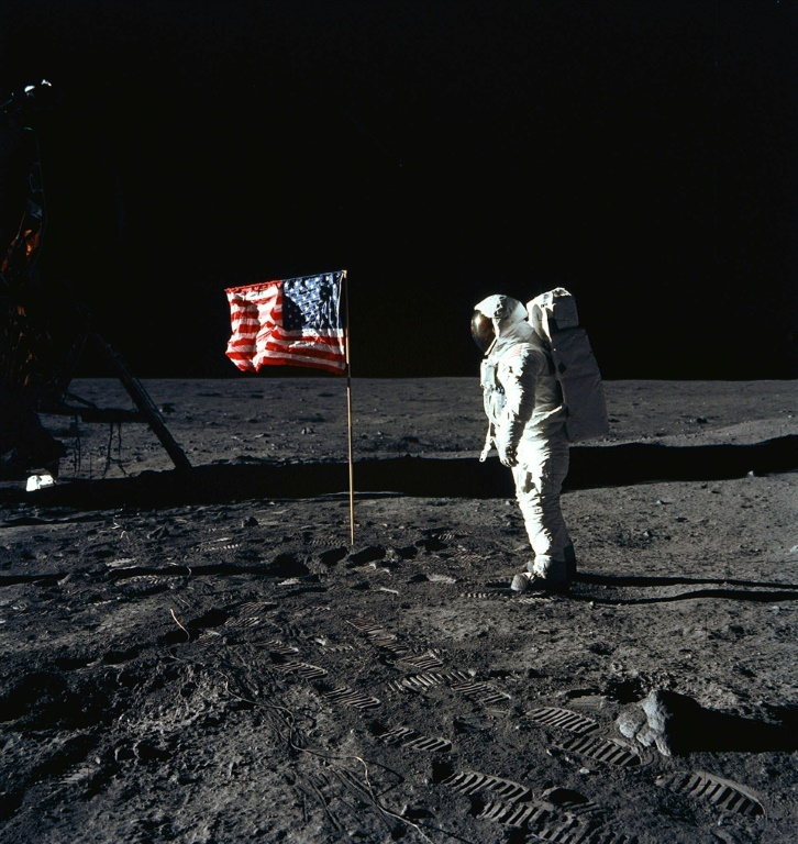 This Nasa photo taken by Neil Armstrong on July 20, 1969 shows astronaut Buzz Aldrin on the Moon's Sea of Tranquility. ─ AFP