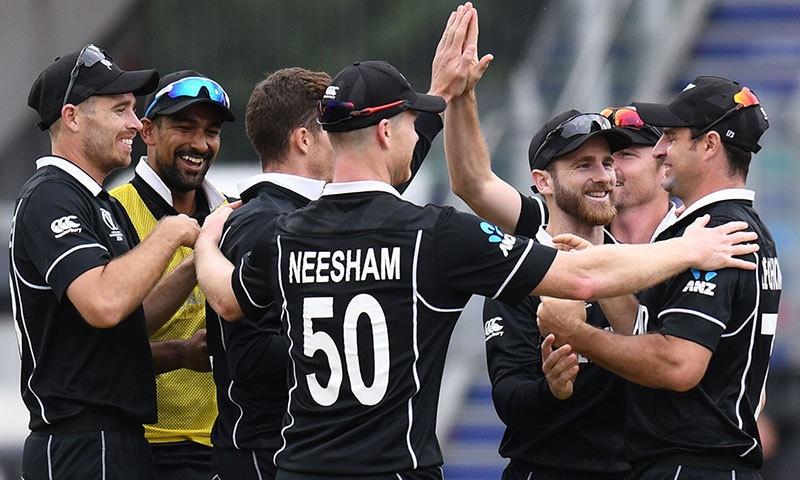 نیوزی لینڈ مسلسل دوسری مرتبہ ورلڈ کپ کے فائنل میں پہنچی—فوٹو:اے ایف پی