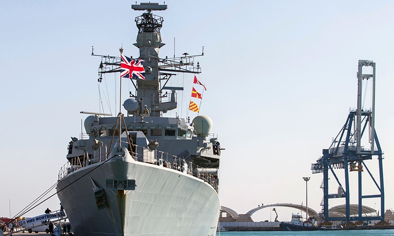 In this file photo taken on Feb 3, 2014, the British warship HMS Montrose is pictured docked in the Cypriot port of Limassol. — AFP