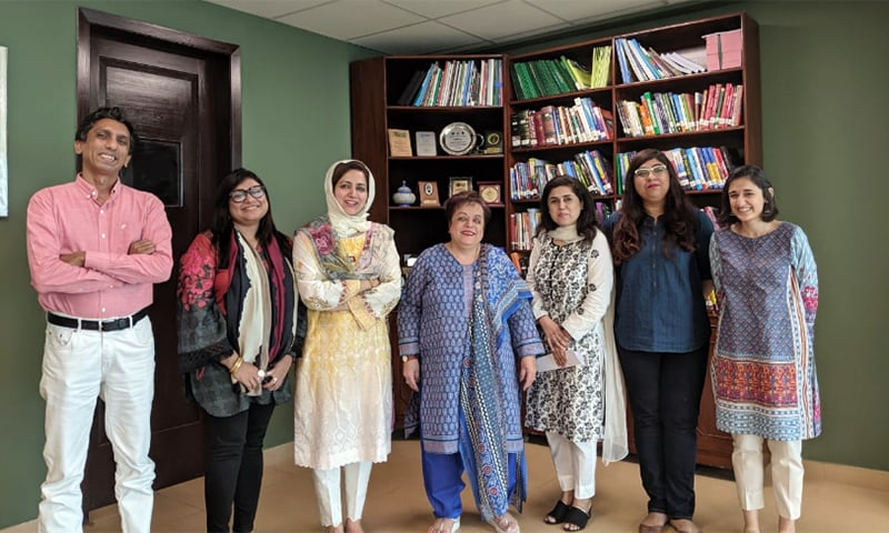 Minister for Human Rights Shireen Mazari meeting with representatives from The Coalition For Women In Journalism (CFWIJ) on Thursday. — CFWIJ