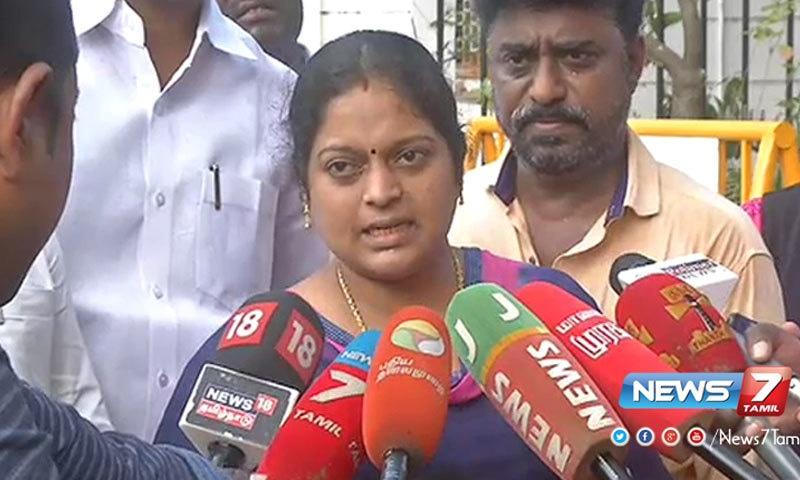 جیوا جوتھی کو تامل ناڈو میں طاقتور ترین خاتون کہا جاتا ہے—فوٹو: نیوز 7 تامل