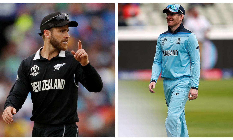 کرکٹ کا عالمی چیمپیئن بننے کے لیے 14جولائی کو انگلینڈ اور نیوزی لینڈ کی ٹیمیں مدمقابل ہوں گی— فوٹوز: اے ایف پی/رائٹر