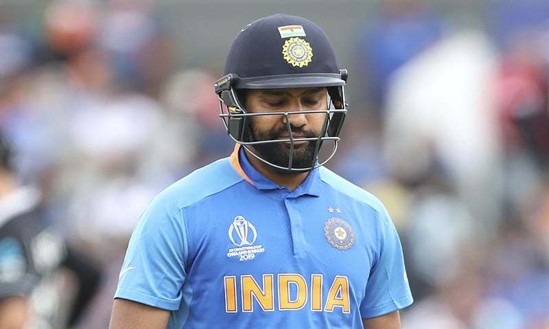 India's Rohit Sharma reacts as he leaves the field after being dismissed by New Zealand's Matt Henry during the Cricket World Cup semi-final match between India and New Zealand at Old Trafford in Manchester on July 10. — AP/File