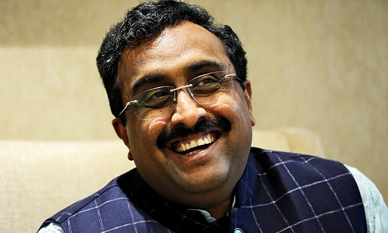 Ram Madhav, a senior leader in India's ruling Bharatiya Janata Party (BJP), reacts during an interview with Reuters in New Delhi. — Reuters