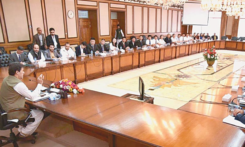 Prime Minister Imran Khan meets a delegation of Chinese investment companies on Friday.—APP