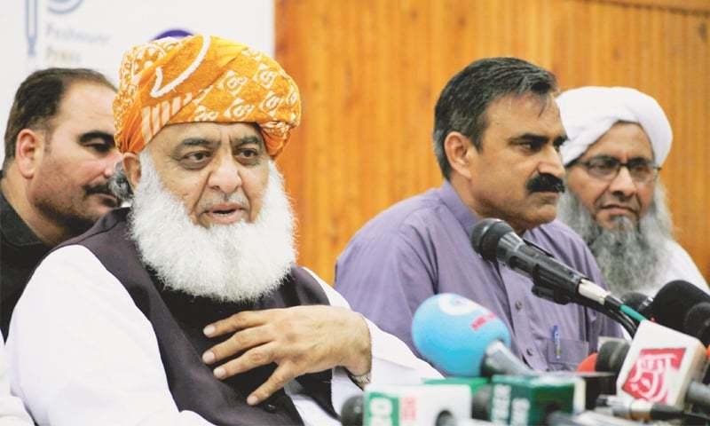 Jamiat Ulema-i-Islam-Fazl chief Maulana Fazlur Rehman. — Dawn/File