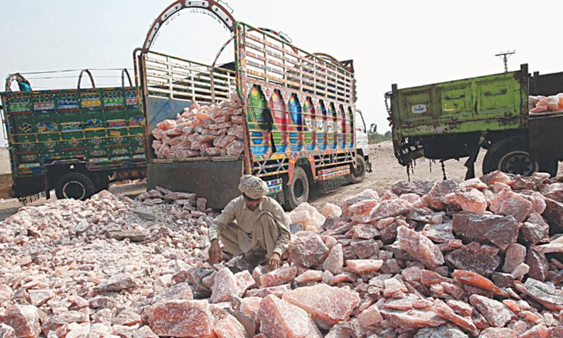 Excessive mining of Khewra salt has permanently degraded water quality in the region | AFP